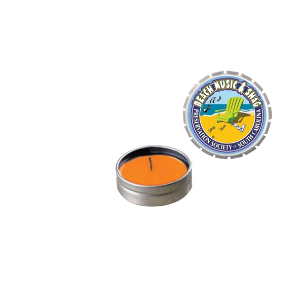 Candle Man - Snap-top Tin Soy Candle (mango And Papaya) - Silver. Eco Friendly Silver Soy Candle Photo