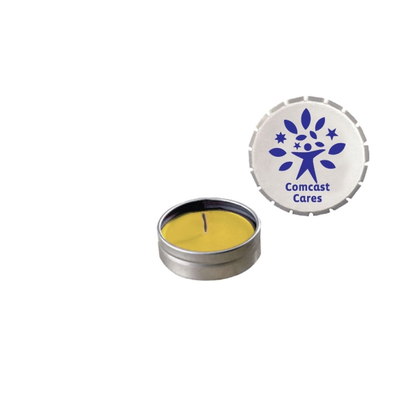 Candle Man - Snap-top Tin Soy Candle (lemon Chiffon) -silver Photo