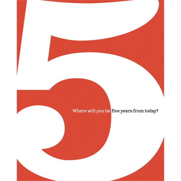5: Where Will You Be Five Years From Today - Hardcover With Dust Jacket Book Of Life Milestones Photo