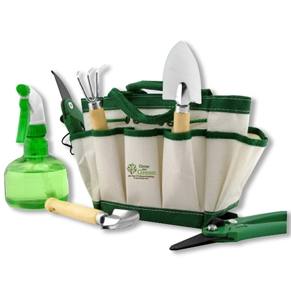 7 Piece Garden Tool Set With Tote Bag