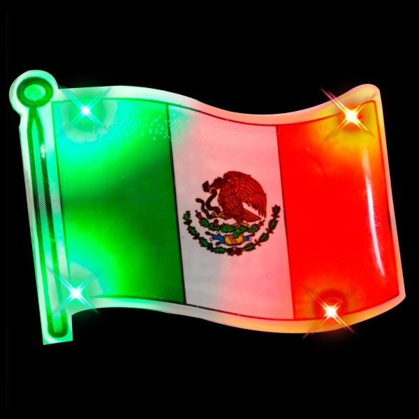 Mexican flag flashing pin blinkies