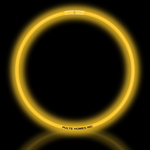 """Yellow 22"""" Superior Single Color Light Up Glow Necklace - Yellow 22"""" Superior single color light up glow necklace."""