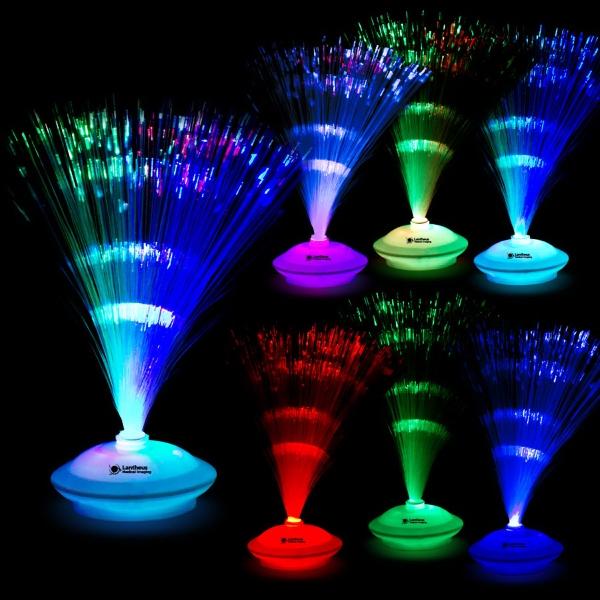 Quot fiber optic light up led glow centerpiece decoration
