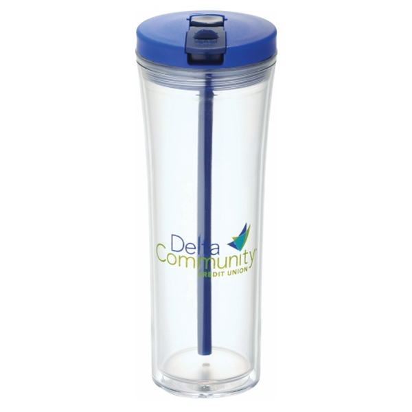 Sleek Double-wall Acrylic Tumbler Comes With Two Lids. Bpa Free Photo