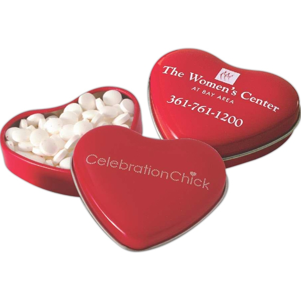 Sweet Heart Shaped Tin Filled with MicroMints (R)