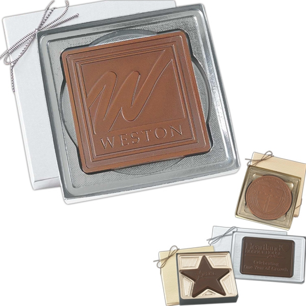 Rectangle - 2 1/2 Oz. Cutout Molded Chocolate Photo