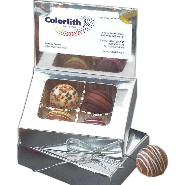 Assorted Truffles in Business Card Holder Gift Box