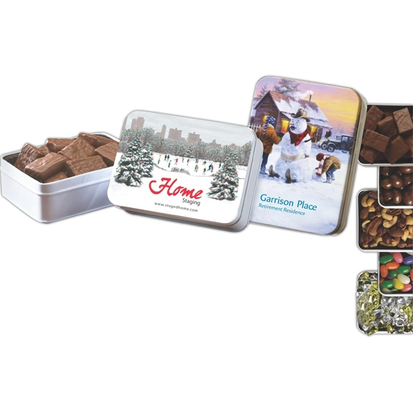 Keepsake Gift Tin with Dark Chocolate Almonds