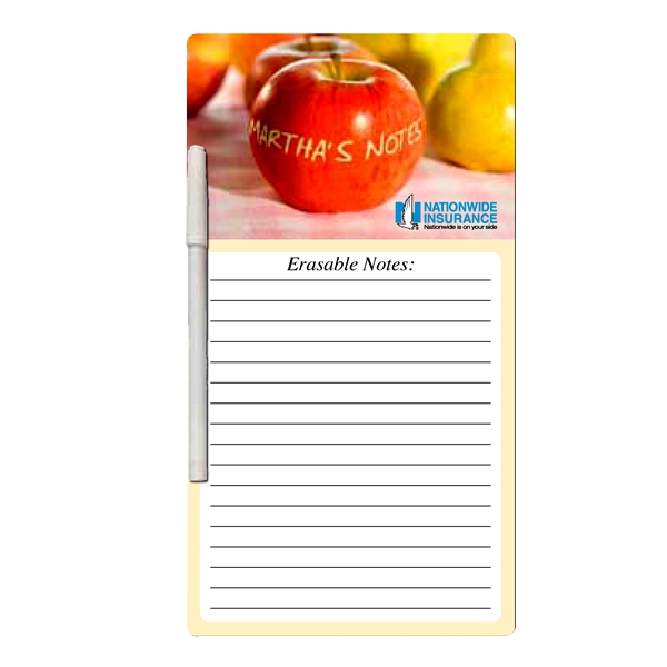 "6"" X 11"" - Erasable Memo Board With Write On/wipe Off Surface, Wet Erase Photo"