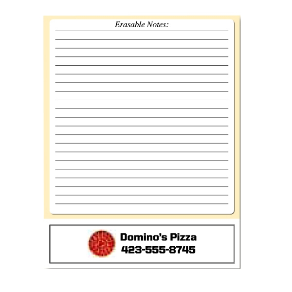 "8.5"" X 11"" - Erasable Memo Board With Write On/wipe Off Surface, Wet Erase Photo"