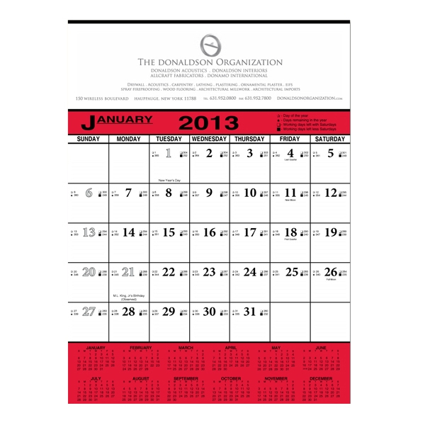 "Job Bidding/job Scheduling Calendar, 18"" X 24.5"" Photo"