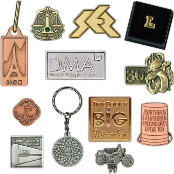 Die Struck Lapel Pin In Two-dimensional Setting Photo