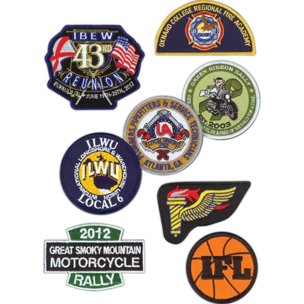 50% Coverage - Embroidered Patch, An Excellent Choice For Teams, Sporting Events, Awards, Etc Photo