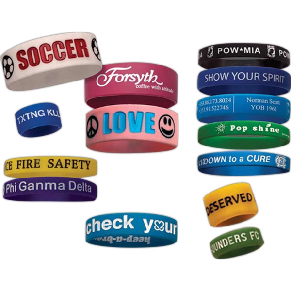 Deboss/emboss - Silicone Wristbands Photo