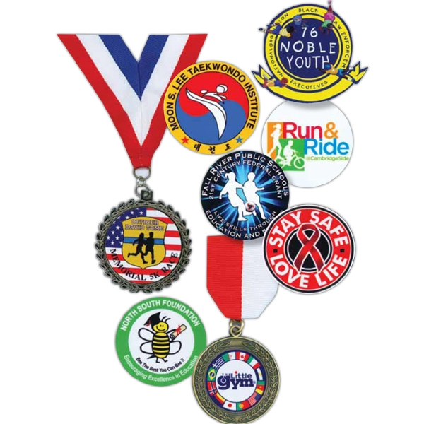 "1 1/2"" X 32"" Rwb Neck Ribbon - Stock Insert Medals And Ribbons Photo"