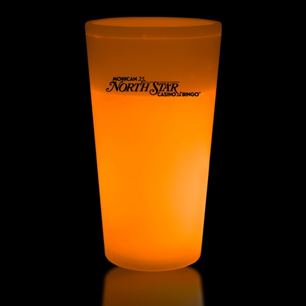 Orange 12 oz. Light Up Glow Cup