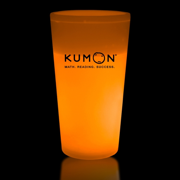 Orange 16 oz. Light Up Glow Cup