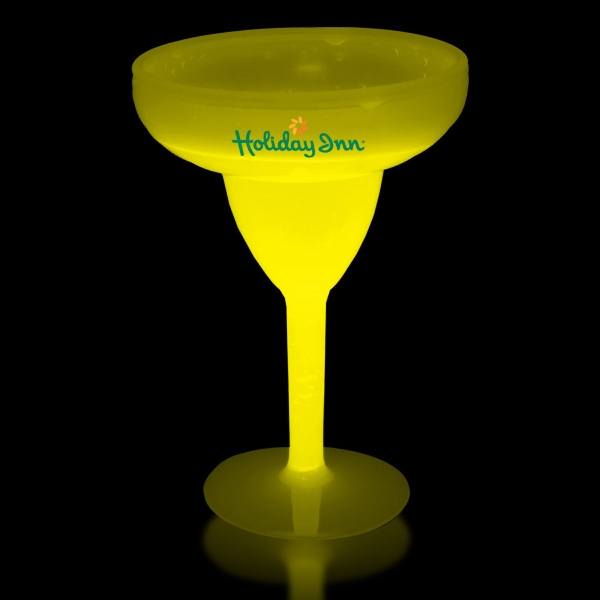 Yellow 10 oz. Light Up Glow Margarita Glass