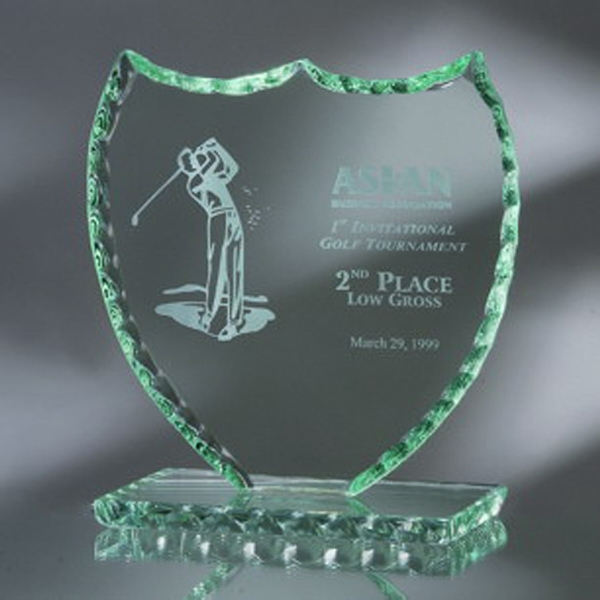 "Award-Shield, Pearl Edge 6 1/2"""
