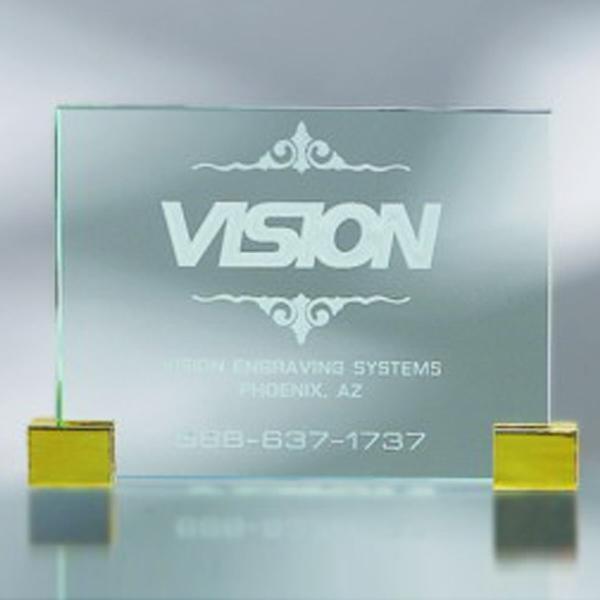 """Award-Plaque w/ Corners 4"""""""