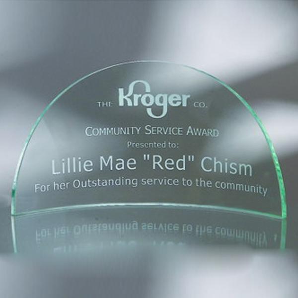 "Award-Media Luna, Flat Edge 6"""