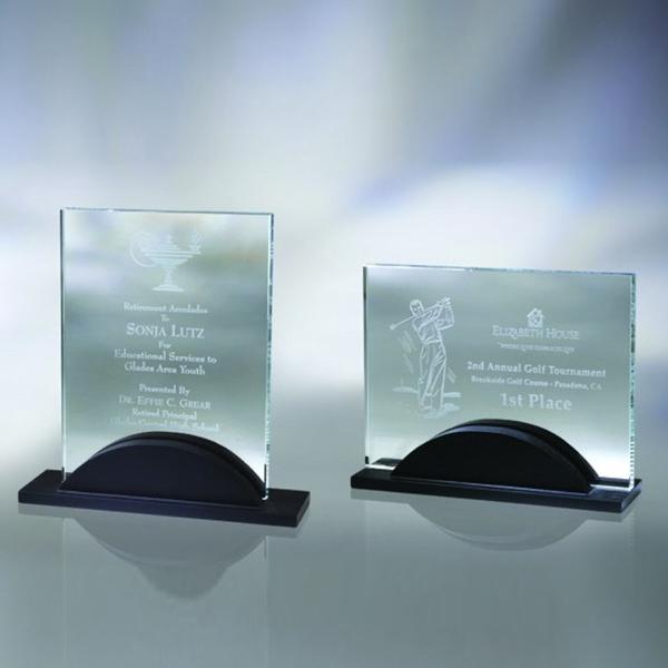 """Award-Award w/ Wood Base 8 3/8"""""""