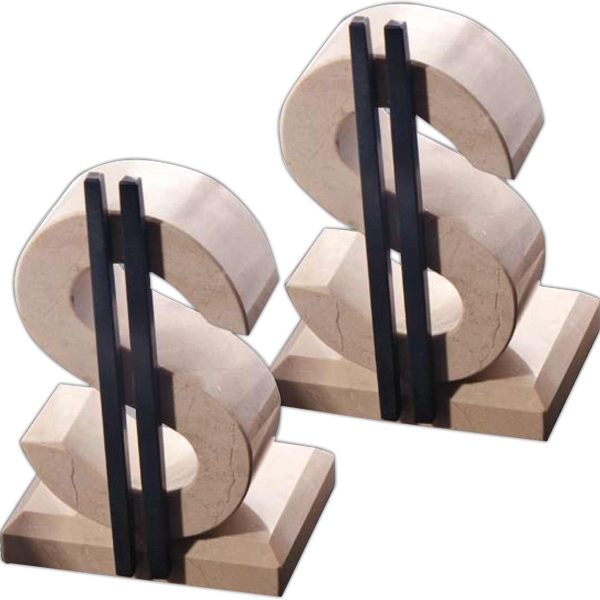 Dollar Sign Bookends BNoticed | Put a Logo on It | The
