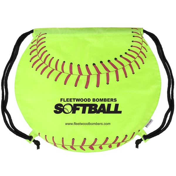Gametime (r) - Exclusive Softball Drawstring Sports Bag Features Nylon Shoulder Strap Photo