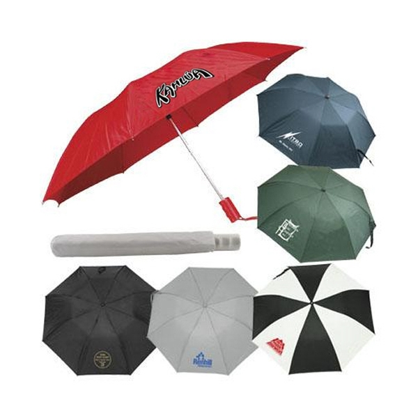 "Automatic Nylon Umbrella With Matching Case, 43"" Arc Photo"