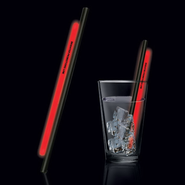 "Red 9"" Glow Straw Photo"