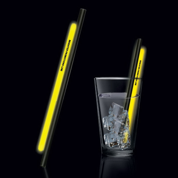 "Yellow 9"" Glow Straw Photo"