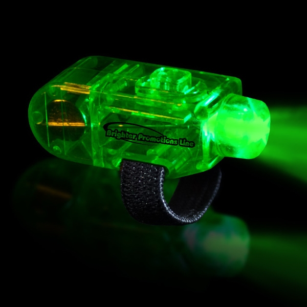 Green Led Finger Light With Velcro (r) Style Closure Photo