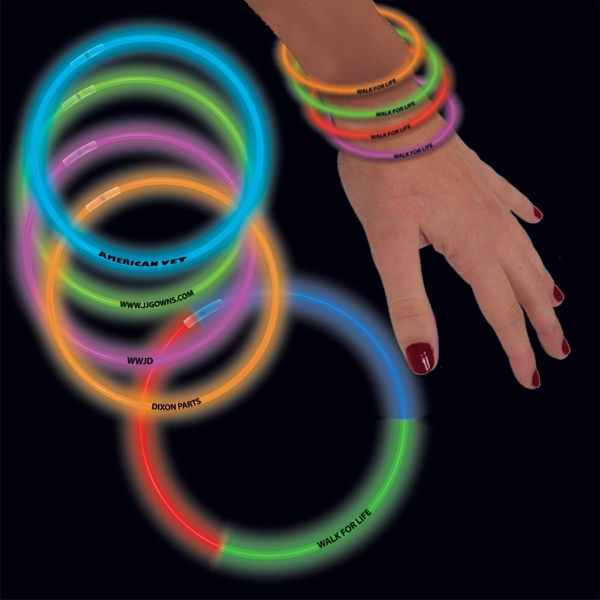 "8"" Triple Color Superior Light Up Glow Bracelet"