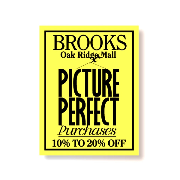 5 Sq. Inches Or Less - Removable Yellow Vinyl Decal With Back Adhesive Photo