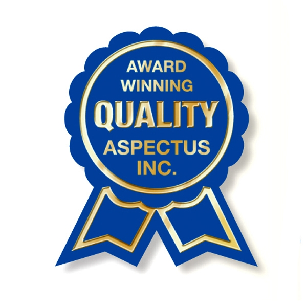 "Embossing Only (no Background) - 1 3/8"" X 1 5/8"" Embossed Award Ribbon Labels On A Roll Photo"