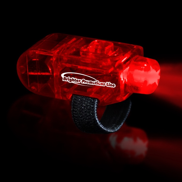Red Led Finger Light With Velcro (r) Style Closure Photo
