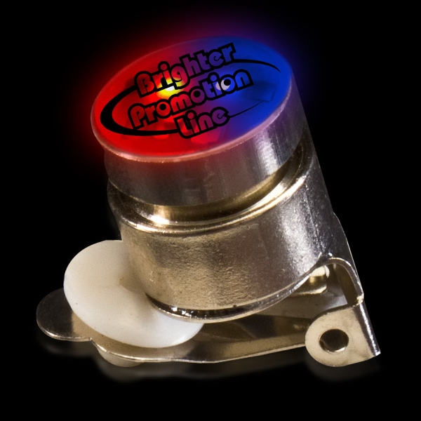 Red & Blue Stock Flashing Light Up LED Glow Button