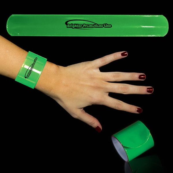 "Green 8 3/4"" Slap Bracelet Photo"