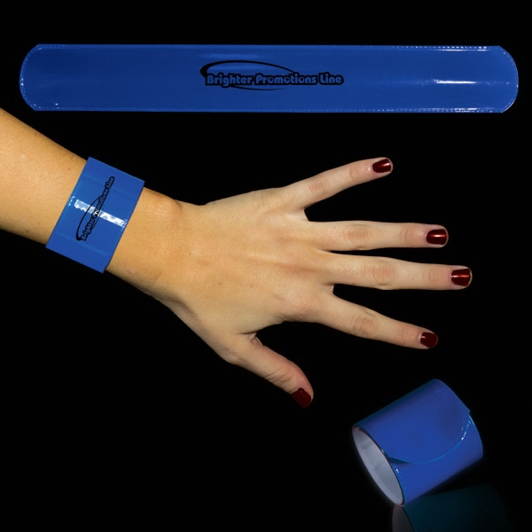 "Blue 8 3/4"" Slap Bracelet Photo"