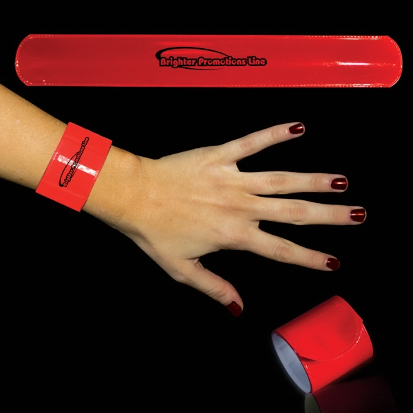 "Red 8 3/4"" Slap Bracelet Photo"
