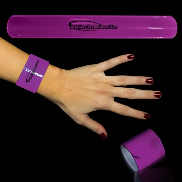 "Purple 8 3/4"" Slap Bracelet Photo"