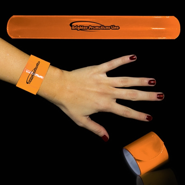 "Orange 8 3/4"" Slap Bracelet Photo"