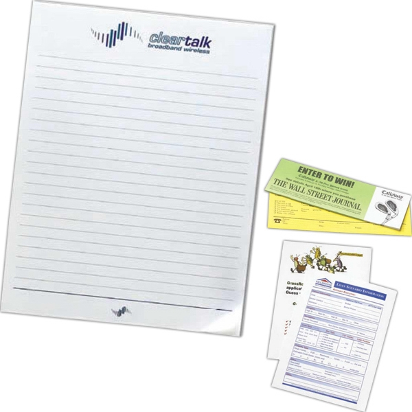 "Stik-withit (r) - 25 Sheet Pad - 8 1/2"" X 11"" Note Pad With Repositionable Adhesive Paper Photo"