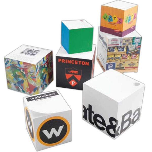 "Note Cube (r) - Full Color Sides - Full Size Non Adhesive Note Cube. 2 1/2"" X 2 1/2"" X 2 1/2"" Photo"