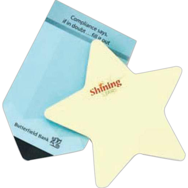 Stik-withit (r) - 100-sheet Pad - Star - Medium Die Cut Self Adhering Stock Shape Notepad Photo