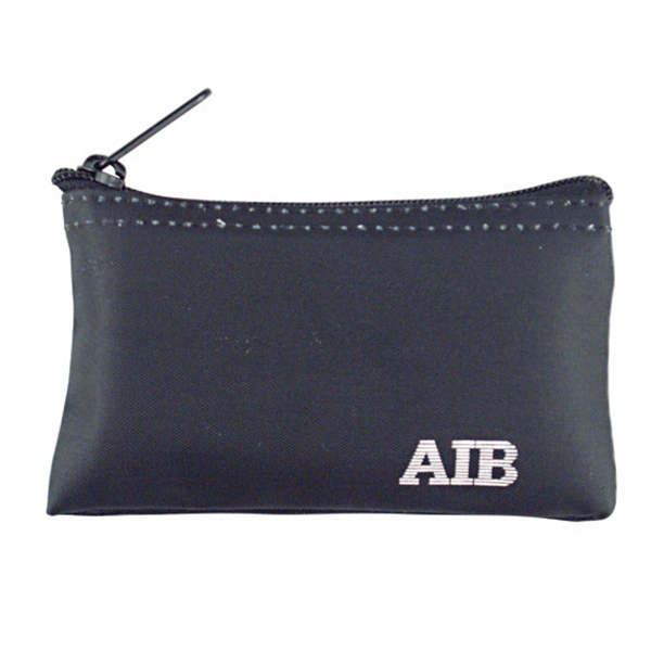 "Standard Nyloglo Coin Purse With Black Nylon Zipper And Seamed Bottom, W 5"" X 3"" Photo"