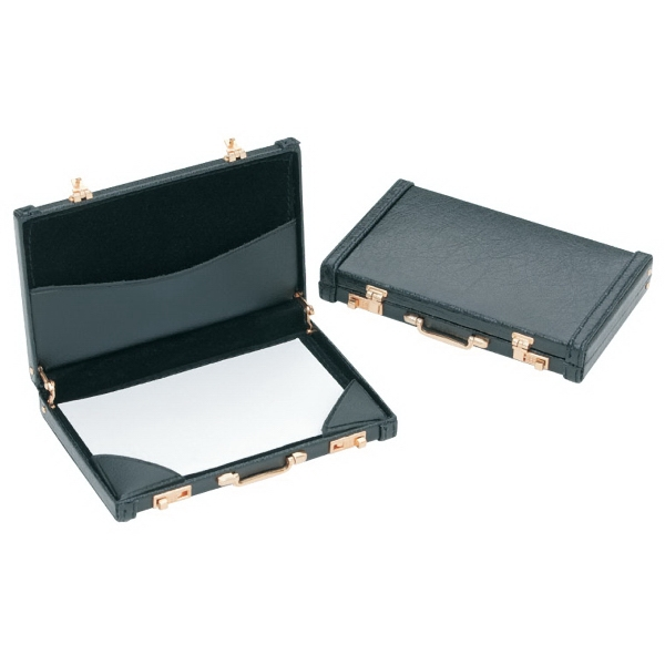 Black - Mini Briefcase Business Card Holder Photo