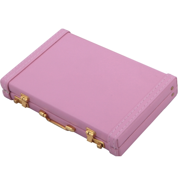 Pink - Mini Briefcase Business Card Holder Photo