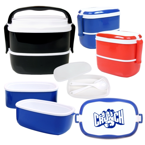 Lunch Pod (tm) - Multi-compartment Plastic Food Storage Case Photo