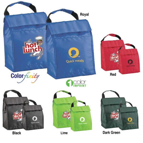 "Sale 5-7 Day Production - Cooler Bag With Carrying Handle In Great ""lunch Sack"" Style Photo"